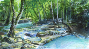 Erawan Waterfalls Study by Eliminate