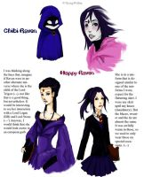 Teen Titans: Raven Sketches by CeciliaSal