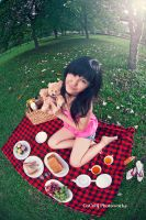 Picnic with Teddy by cocobi-lens
