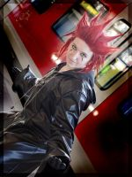 Axel in Twilight Town by Kagexa