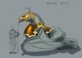 Wyvern Mount Armor Design rough by Brollonks