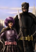 Big Daddy and Hit Girl by alecyl