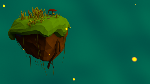 Floating Island background Final by HitchHock