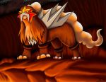 Volcanic King - Entei by DarkFeather