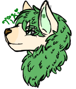 Tiki (Request, monster dog FV) by Lunalonewolf