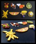 Kalos Pokemon Badges by DoyleDesigns