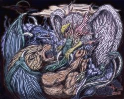 Chimera vs Griffin: fractal by jdmacleod