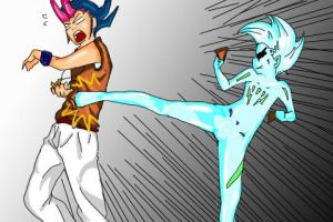 Astral vs Yuma by LadyDragneel