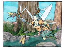Fairy Fight Coloured by die-BeckX