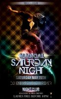 magical saturday night flyer template by ysfkrk