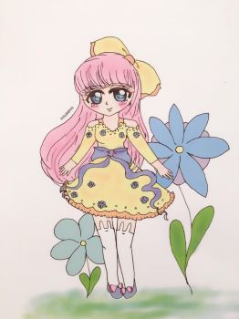 Flower chibi  by sailormoonpastel