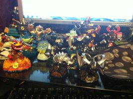 my swaplanders and skylanders by fossil-fighter