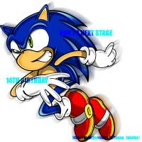 Happy Birthday to Sonic by manaita