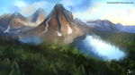Landscape Speedpaint by DiamondwolfART