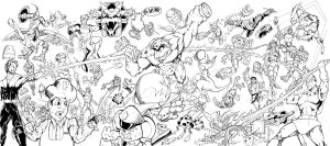 Super Smash Bros The 80s by Inker-guy