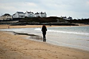 strolling along the beach. by jashxxx