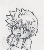 Roxas and his Lolly by xCheshireGrin228