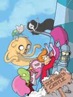 ADVENTURE TIME MEETS FUTURAMA by JayFosgitt