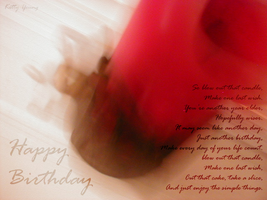 Happy Birthday Candle by KitKat22491