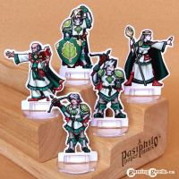 Greenhold Command 28mm Paper Miniatures by Pasiphilo