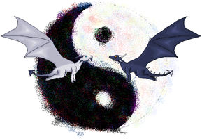 Ying Yang Dragons by meroaw