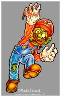 Zombie Mario by hatefueled
