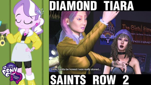 Diamond Tiara Equestria Girls Saints Row 2 by Vaux111