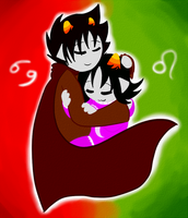 karkat and nepeta by rinnax3