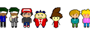 Some sprites. by MygreatRiddle
