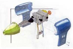 Exploded view blowdryer by Yabbus23