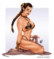 Adam Hughes Leia color by yatz