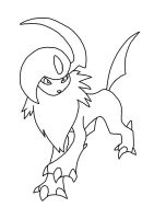Absol Lineart by Flaroxthefox