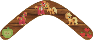Big Macintosh and Applejack Boomerang by Out-Buck-Pony