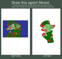 before and after meme by wen016