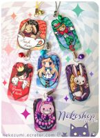 FOR SALE - Alice in Wonderland charms by Nekozumi