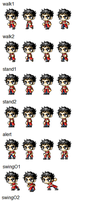 Pizza Maple Story Sprite Sheet by SalTheSpriter