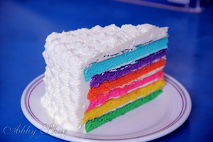Rainbow butter cake by AbbyShue