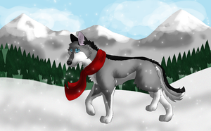Winter walk - Commision for NaraWolfFH by Afna2ooo