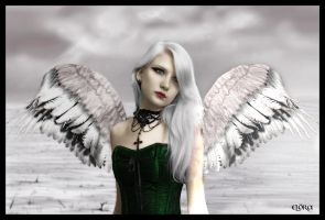 Gothic Angel by Eternal-Dream-Art