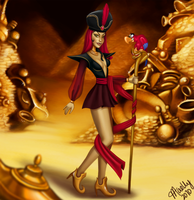 Disney Villainettes - Jafar by blastedgoose