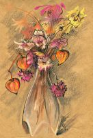 Cape gooseberries and dried flowers by NatashaSolo