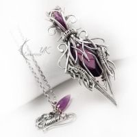 RUNTIRAEL - silver and amethyst by LUNARIEEN
