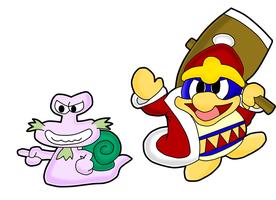 Paper King Dedede and Escargon by MechanicalOven