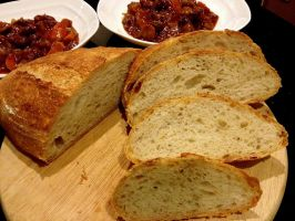 Homemade Bread and Stew by PoodleSchmoodle