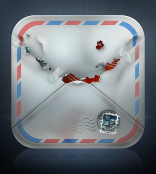 Damaged Air mail icon by Yashirou