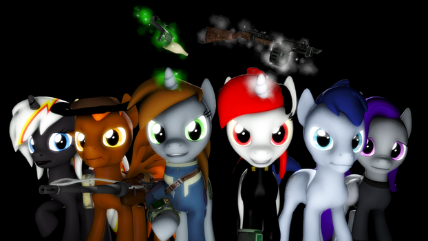 {SFM} Fallout Equestria: Wasteland heroes by jaygaming1