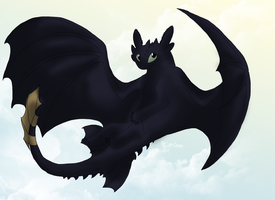 Toothless again by Morgan-Michele