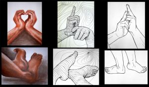 hands and feet tryptych by alienfirst