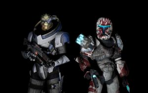 Garrus and Sev - Sharpshooters by benoski