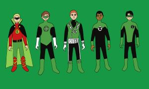 Green Lantern: line-up by evilfuzzle2